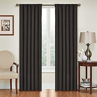 Eclipse 42 x 84 Insulated Darkening Single Panel Rod Pocket Window Treatment Living Room, Black