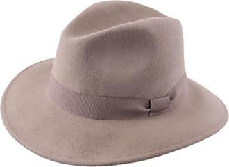 020b0d60825 Modissima Fedora Hat Wool Felt Men Traveller Cavalier - Size 57 cm - Beige