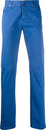 Kiton straight fit chinos - Blue