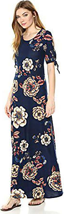 Star Vixen Womens Petite Short//Slit Sleeve Keyhole-Back Skater Seam Maxi Dress