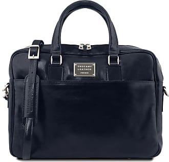 Tuscany Leather Cartella in pelle porta computer con tasca frontale Testa  di Moro 4ad973e931f