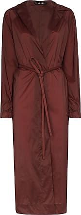 Kassl Editions Trench coat Fluid com cinto - Vermelho
