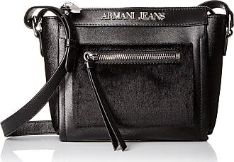 7315c6879fb Armani Jeans Pony Hair and Eco Leather Crossbody, Black