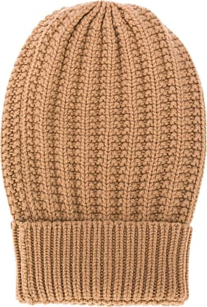 Eleventy cable-knit beanie hat - Brown