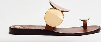 Tory Burch Tory burch - ciabatta infradito con medaglioni - oro