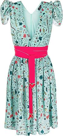 Elisabetta Franchi floral print midi dress - Green