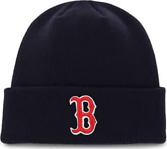47 Brand MLB Boston Red Sox Mens Raised Cuff Knit Beanie, Navy, One-Size