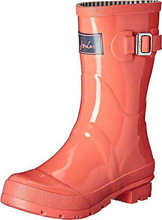 Joules Womens Kellywelly Gloss Rain Boot, Soft Coral, 5 M US