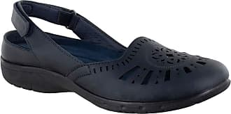 Easy Street Womens Meg Ballet Flat, Navy, 9.5 X-Wide