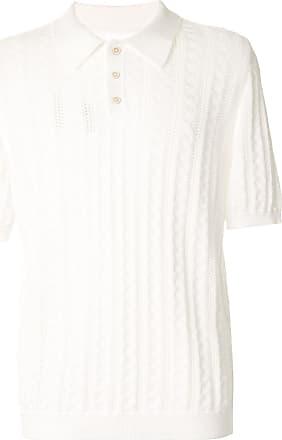 Maison Margiela Camisa polo mangas curtas de crochê - Branco