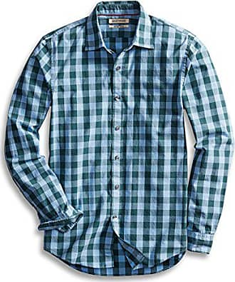 Goodthreads Mens Slim-Fit Long-Sleeve Gingham Plaid Poplin Shirt, Blue/Green, XX-Large