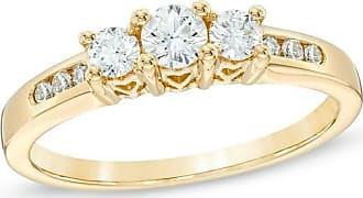 Zales Previously Owned - 1/2 CT. T.w. Diamond Past Present Future Engagement Ring in 14K Gold