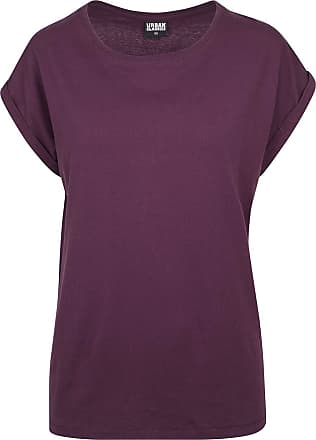 Urban Classics Ladies Extended Shoulder Tee - T-Shirt - plum
