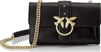 Pinko Love Mini Soft Simply Cl Vitel Womens Cross-Body Bag, Black (Azzurro Cic. India), 6x12.8x20.8 Centimeters (W x H x L)