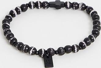 Icon Brand Bracciale di perline con croce nero