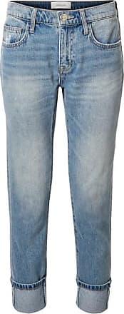Current Elliott The Fling Distressed Low-rise Slim Boyfriend Jeans - Mid denim
