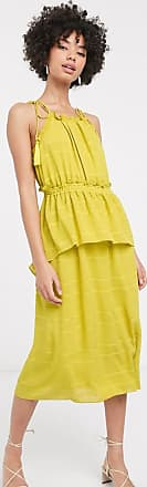 Whistles textured check sleeveless dress-Yellow