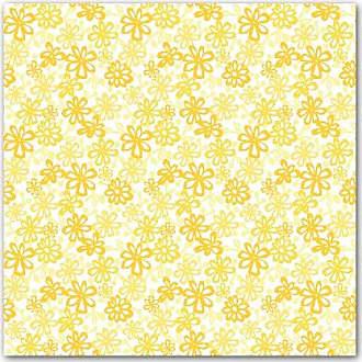 KESS InHouse JH1009AKP01 Julie Hamilton Paper Daisy Yellow Art Clings 12-Inch x 12-Inch Square Sticker Wallpaper Decal