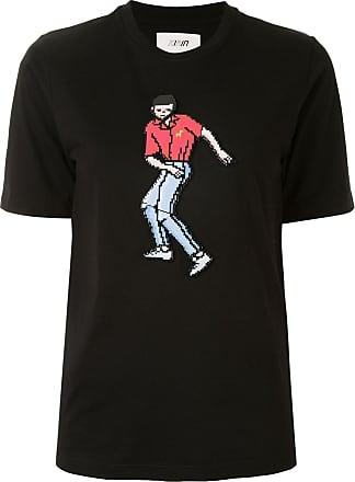 Kirin Camiseta com detalhe de aplicação - Preto