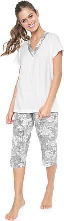 Pzama Pijama Pzama Estampado Off-white/Preto