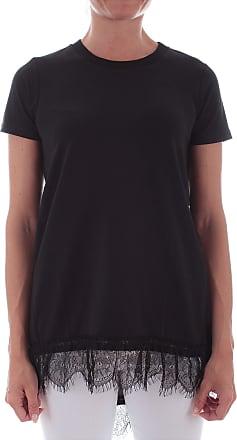 MY TWIN Twinset 201MP2358 Maxi T-Shirt Con Pizzo da Donna Nero - Black - S