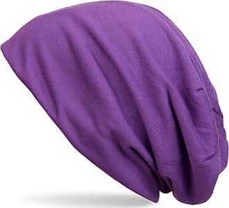 styleBREAKER Classic Beanie hat, Summer, Light, Unisex 04024018, Colour:Purple