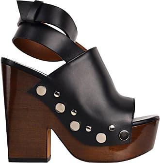 4b9d01416a3e Givenchy Womens Black Leather Stud Clog Platform Sandals