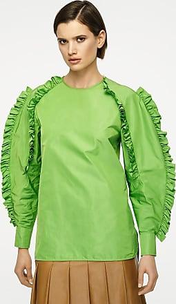 Escada Silk Blend Ruffle-Sleeve Blouse