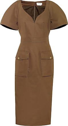 Alexander McQueen Cotton midi dress