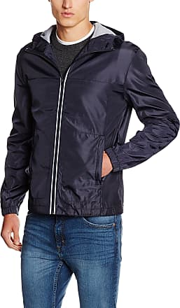 French Connection Mens Bonded Hooded Coat, Blue (Marine Blue), Large