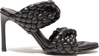 Bottega Veneta Padded Intrecciato-leather Mules - Womens - Black