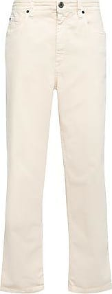Brunello Cucinelli Brunello Cucinelli Woman High-rise Wide-leg Jeans Ecru Size 40