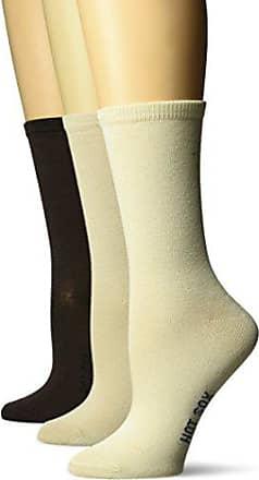 Hot Sox Womens 3 Pack Originals Classics Crew Socks, Solid (Oyster), Shoe Size: 4-10