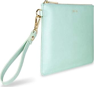 Katie Loxton Secret Message Womens Faux Leather Clutch Secret Message Pouch Green Size: 9.5 x 7 x 0.25