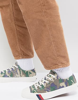 Keds Royal Lo - Ripstop Stoffschuhe mit Military-Muster-Grün