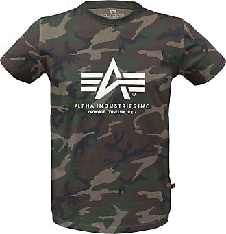 Alpha Industries Basic Alpha T-Shirt woodland camo, Größe S