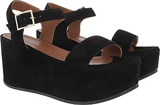 L'autre Chose Sandals - Suede Zeppa Platform Sandal Black - black - Sandals for ladies