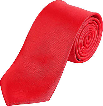 DonDon tie for men 7 cm classical handmade business tie red for the office or for festive events