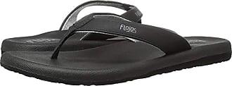 Flojos Jersey (Black) Womens Toe Open Shoes