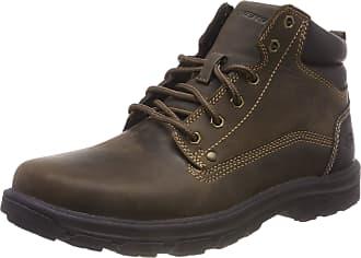 Skechers Mens Segment-Garnet Chukka Boots, Brown (Chocolate), 10.5 UK (45.5 EU)