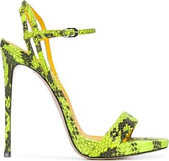 Le Silla Sandália Gwen com efeito pele de cobra - Amarelo