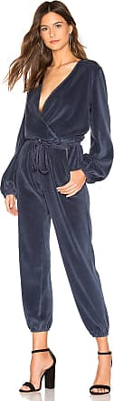 Young Fabulous & Broke Foiley Velour Jumpsuit in Navy