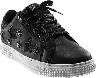 Angkorly Damen Schuhe Sneaker - Sporty chic - Tennis - Nieten - Besetzt -  Glitzer - a095c8f2bf