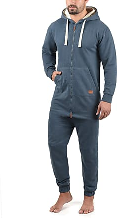 Blend Salinho Mens Overall Onesie Hooded Jumpsuit, Size:XL, Colour:Ensign Blue (70260)