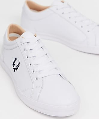 Fred Perry Baseline leather trainers in white