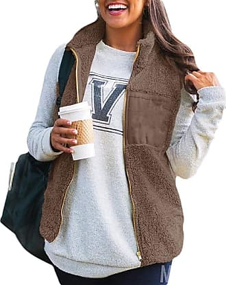 VITryst Women Warm Full Zip Fleece Vest Sleeveless Jacket Zipper Pockets,1,X-Large