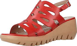 Wonders Women Sandals and Slippers Women D9003 Red 5.5 UK