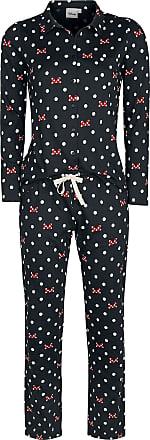 Mickey Mouse Minnie Maus - Pünktchen und Schleifen - Schlafanzug - schwarz