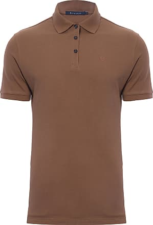 Richards POLO MASCULINA PIQUET LISA - MARROM