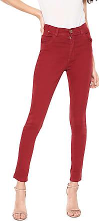 Zune Jeans Calça Sarja Zune Skinny Básica Vermelha
